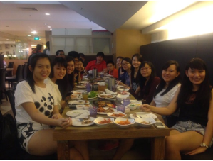 MYEC's First Annual Gathering At SSikek Korean BBQ Restaurant on 16 January 2015.